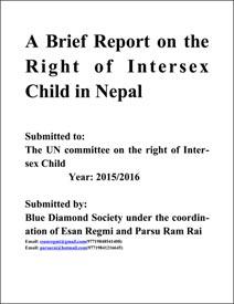 Intersex Genital Mutilations, Stigma and Bullying in Nepal
