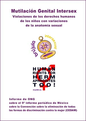 Cover: 2018 CEDAW Mexico Intersex NGO Report