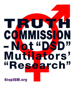 TRUTH COMMISSION not 'D$D' Mutilators' 'Research'!